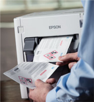 PPG TESLIN GHS Labels are easy to print with digital laser printers