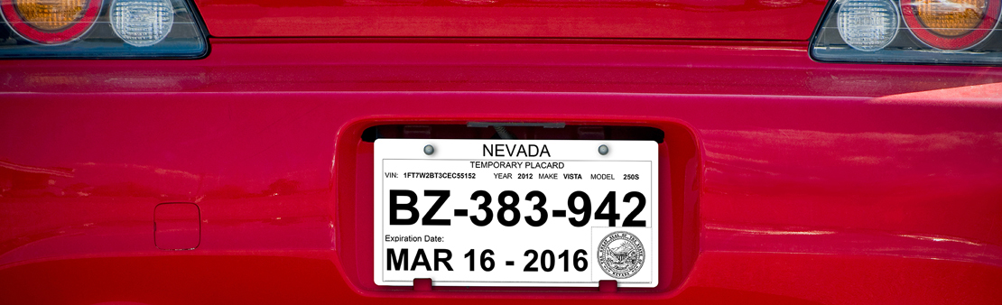 photograph regarding Printable Temporary License Plate Template named Non permanent License Plate PPG TESLIN artificial paper
