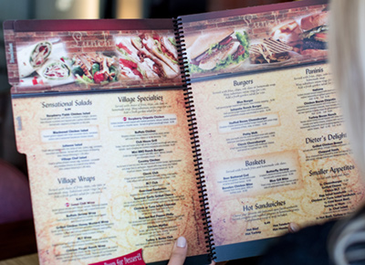 Synthetic paper like PPG TESLIN substrate is often used for printed restaurant menus that must stand up to abuse from water, oil and handling.